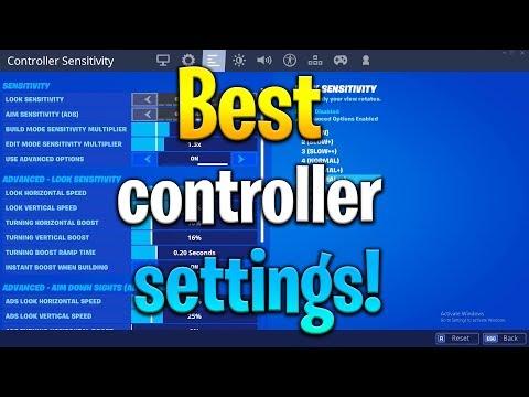 BEST CONTROLLER FORTNITE SENSITIVITY/SETTINGS (Chapter 2 settings - PS4/Xbox) NEW BEST SETTINGS
