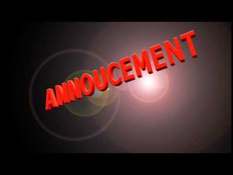 Announcement for Easy Worship Media Presentation by elija_god