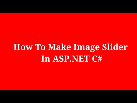 How To Make Image Slider In ASP.NET C#