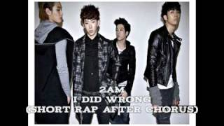 [RINGTONE] 2AM - I Did Wrong (잘못했어) Single