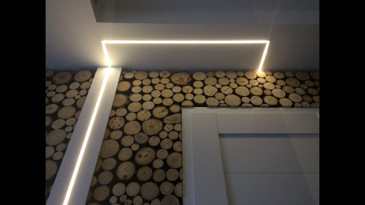Nowoczesne Oświetlenie Led W Kuchni Salonie Korytarzu Youtube