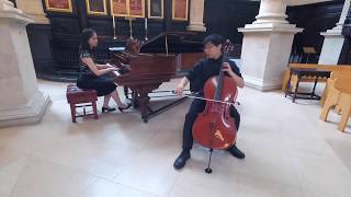 Somewhere over the Rainbow, for cello and piano --The Wizard of Oz. Kai Hei Chor/Constance Chow.