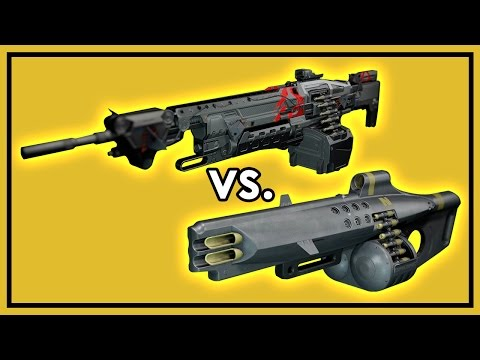 Destiny Rise of Iron: IF MATERIA~ vs. Nemesis Star - Machine Gun Damage Comparison