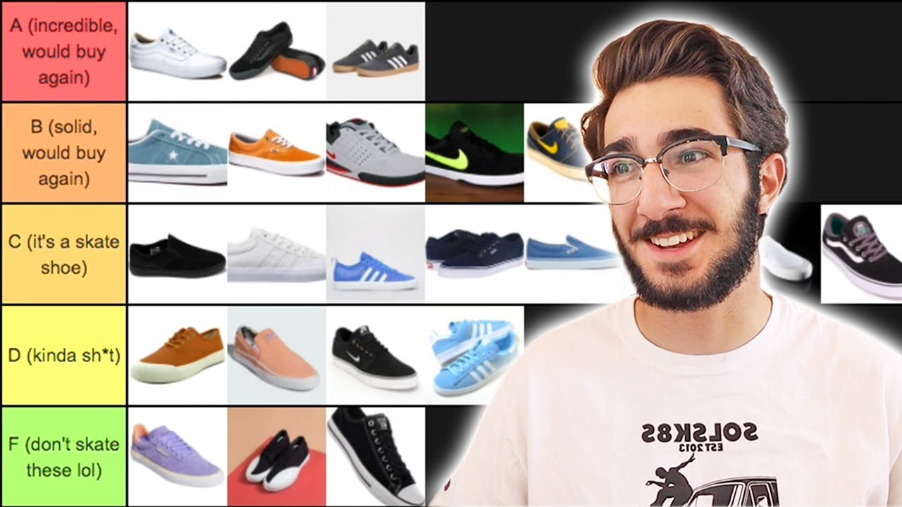 RANKING ALL MY SKATE SHOES - YouTube