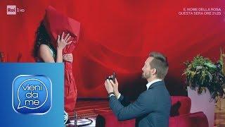 La proposta di matrimonio in diretta di Dino a Vera - Vieni da me 18/03/2019