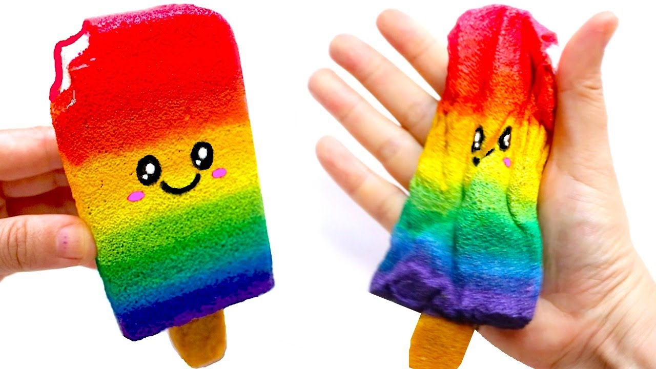 Squishy Toys Diy : DIY RAINBOW POPSICLE SQUISHY Easy DIY Toys for Kids - YouTube