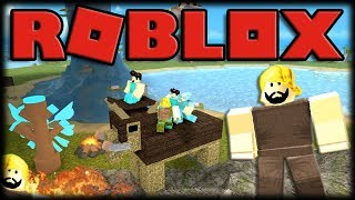 Playing Roblox-BOOGA BOOGA-the adventures of he-man in the caves!