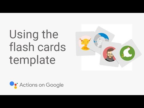 Build A Flash Card App For The Google Assistant With No Code Template Tutorial 1