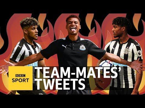 Team-mates' Tweets: Newcastle United's Jacob Murphy - BBC Sport