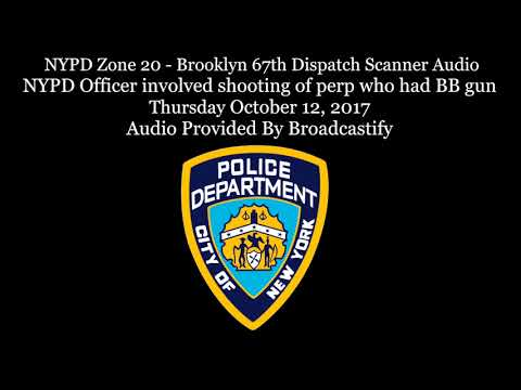 Brooklyn NYPD Zone 20 Dispatch Scanner Audio NYPD Officer involved shooting