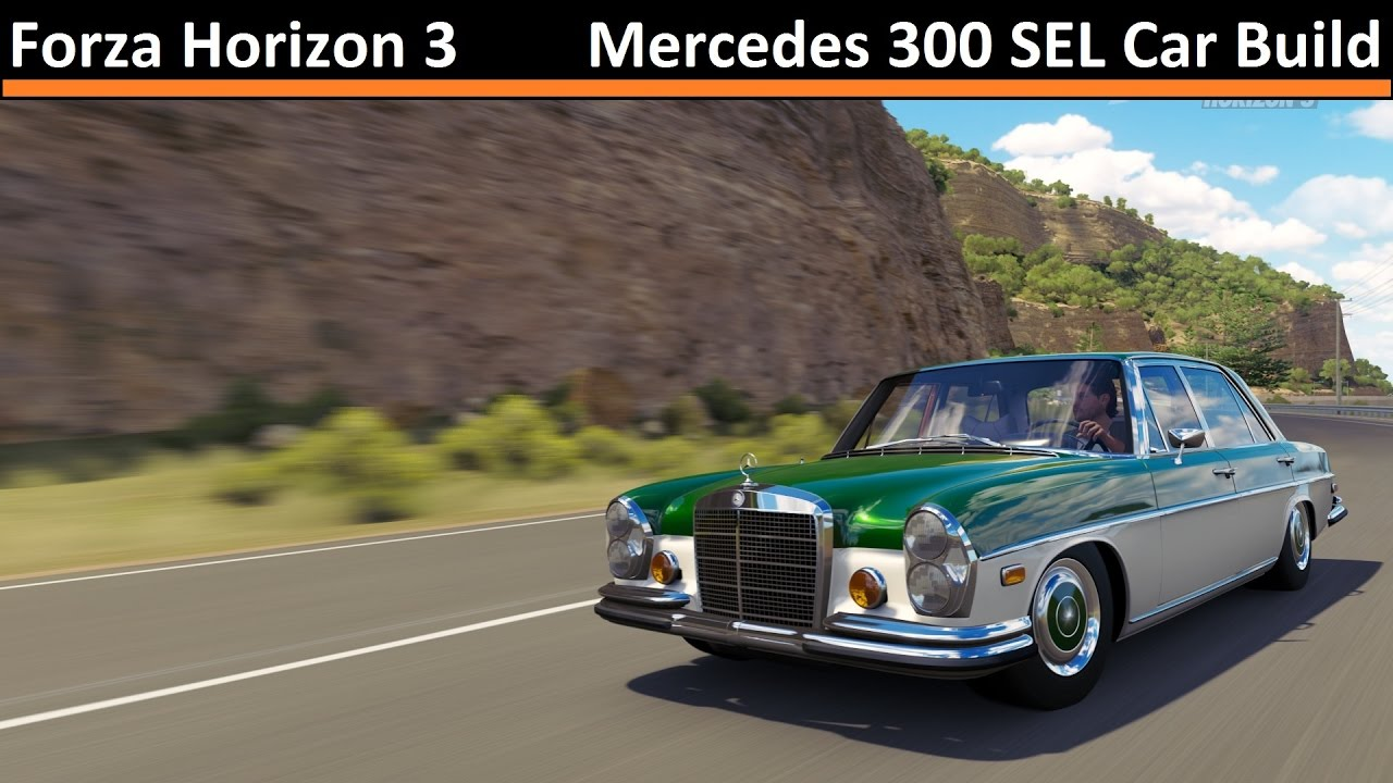 mercedes 300 sel car build forza horizon 3 youtube. Black Bedroom Furniture Sets. Home Design Ideas