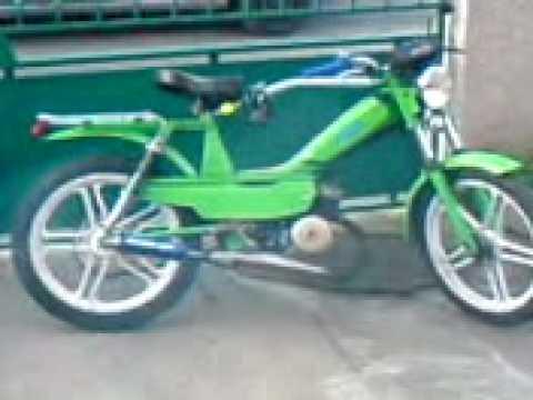 mbk 51 verte avec pot bidalot