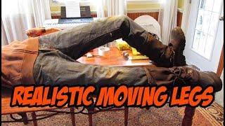 Realistic moving legs, halloween prop