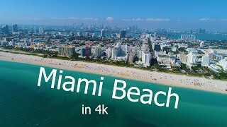 Aerial of Miami Beach in 4k