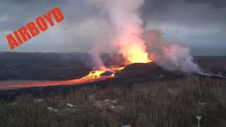 Aerial Survey Of Kilauea Lava Flow