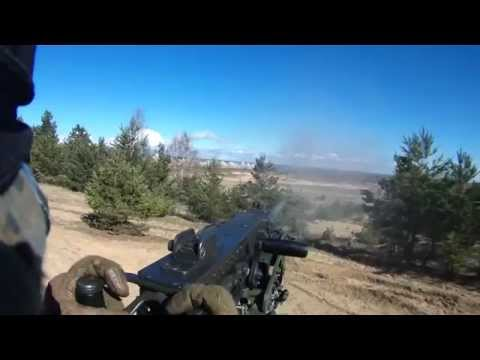 Marine Live Fire Attack in Latvia (Mortars, M2 50 cal.)