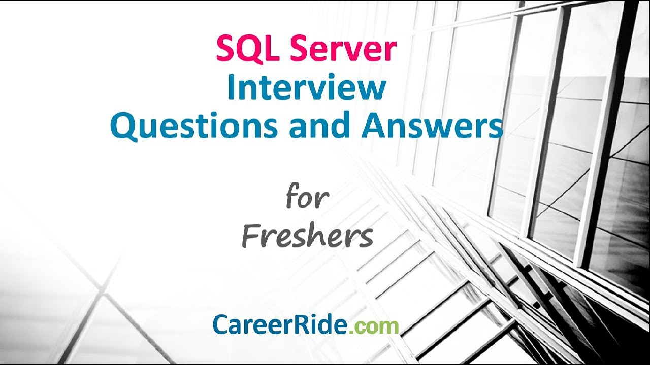 60 Sql Server Interview Questions and Answers