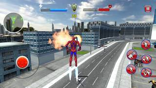 Flying Iron Spider - Flying Superhero Robot Games