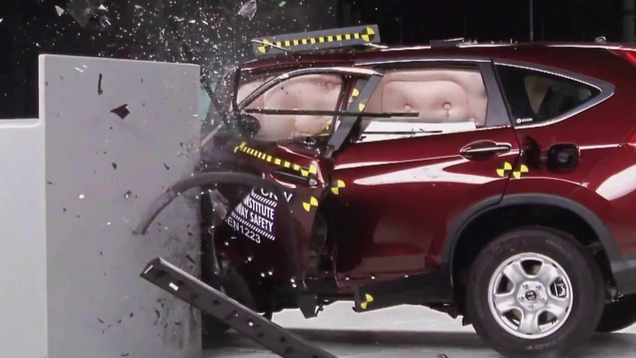 2013 honda crv crash test iihs small overlap test for Honda crv crash test