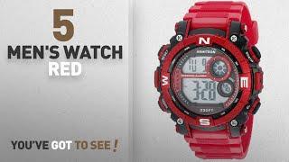 Top 10 Men's Watch Red [2018]: Armitron Sport Men's 40/8284RDBK Digital Chronograph Matte Red Resin