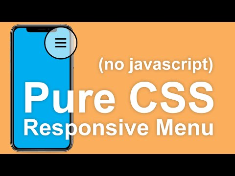 Responsive Pure CSS Menu Tutorial (No Javascript)