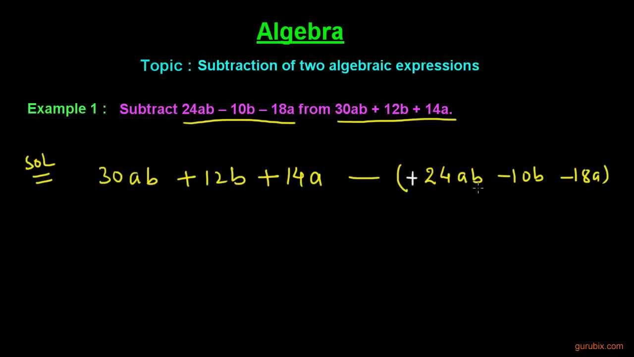 how to add and subtract expressions