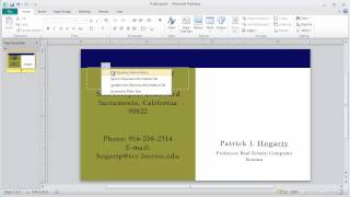 How To Use Microsoft Publisher Templates To Create A Business Card