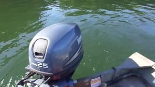 Yamaha 25 HP 4 stroke, lake test.