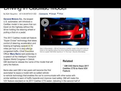 Self-Driving Cadillac Coming Soon, Announces General Motors
