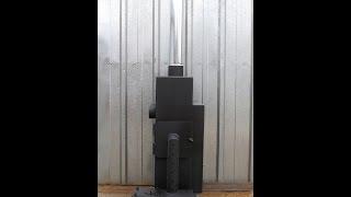 Печь буржуйка длительного горения под вентилятор улитка 600 кубов(, 2014-11-13T06:24:32.000Z)