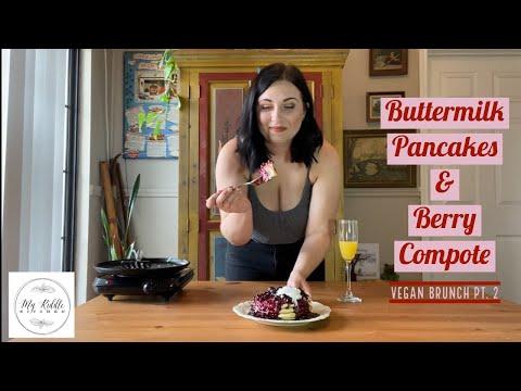 vegan-brunch-pt.-2-|-buttermilk-pancakes-&-berry-compote