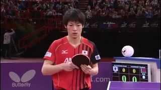 【世界卓球2013】男子シングルス4回戦 松平健太vsサムソノフ