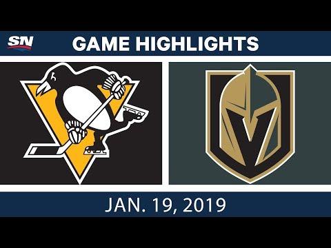 NHL Highlights   Penguins vs. Golden Knights - Jan. 19, 2019