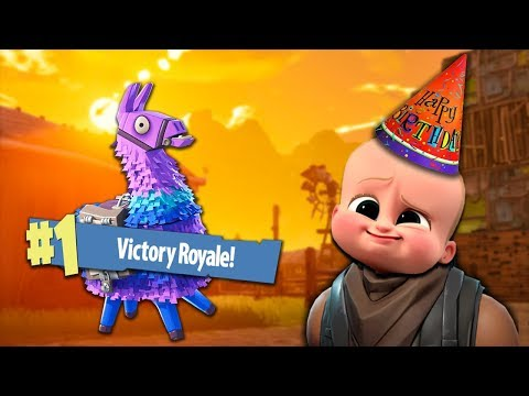 Getting a VICTORY for a KIDS BIRTHDAY! - Fortnite Battle Royale