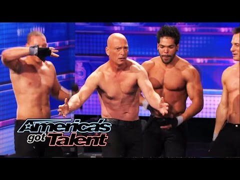 Rock Hard Revue: Sexy Male Performers Get Howie Mandel to Go Shirtless - America's Got Talent 2014