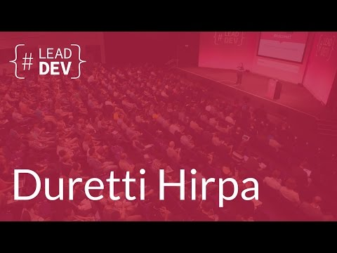 Getting an engineering team to eat their vegetables – Duretti Hirpa | The Lead Developer UK 2016