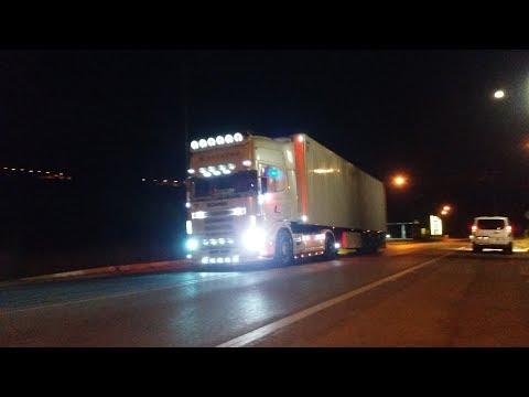 "Scania 124l 420 ""Christos"" open pipe sound"