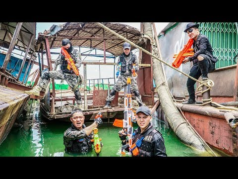 LTT Game Nerf War : Police Squad Warriors SEAL X Nerf Guns Fight Inhuman Group Destroy Robbers