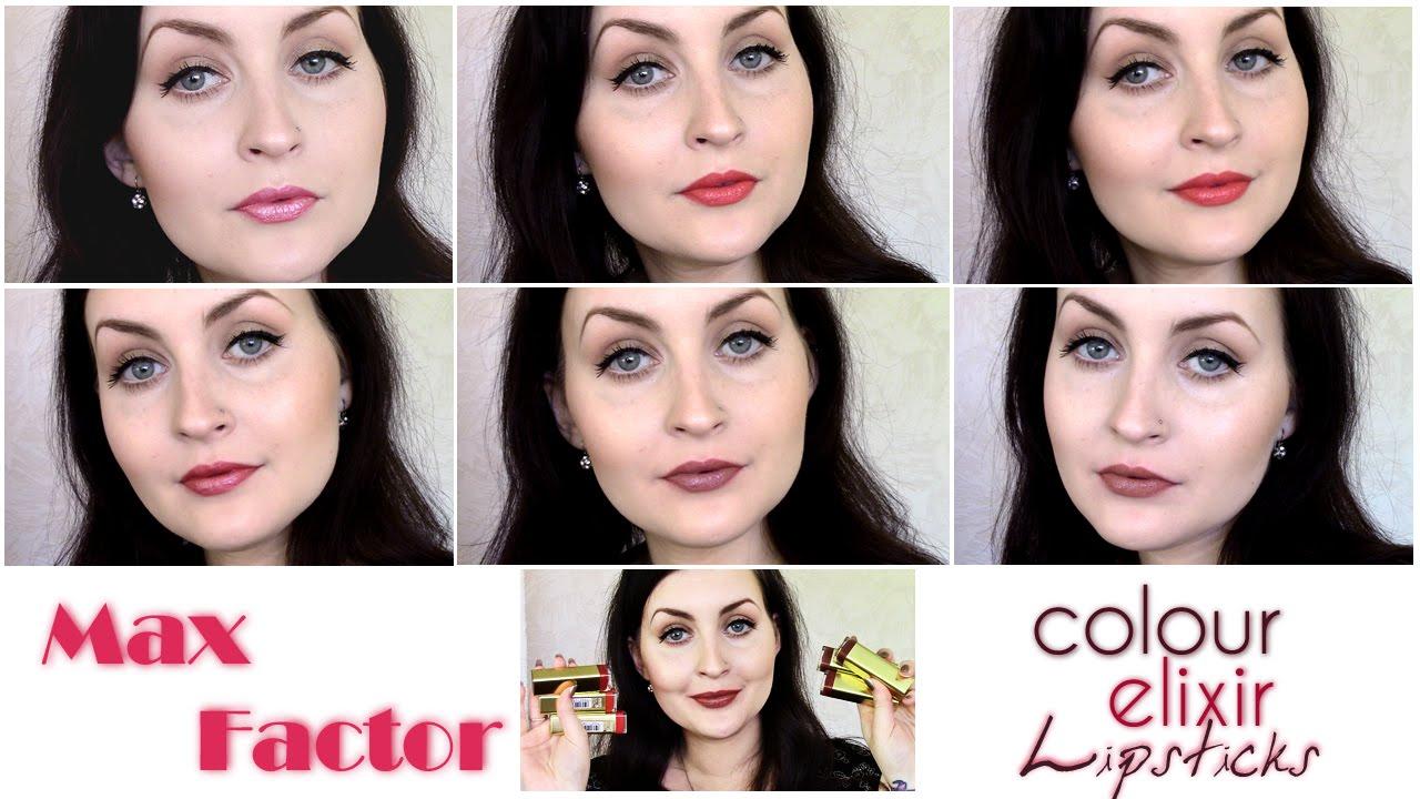Max Factor Colour Elixir Lipsticks Lip Swatches Youtube