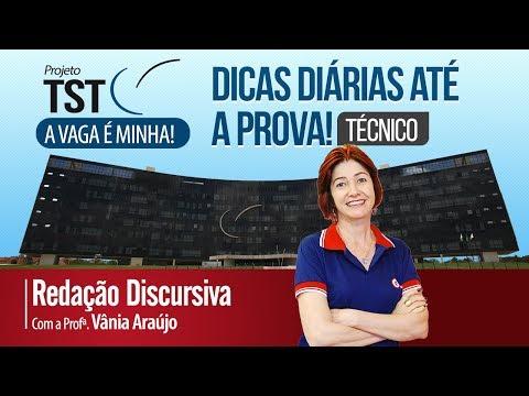 🏛️Concurso TST Técnico | Dicas diárias até a prova! Redação Discursiva  com a Prof. Vânia Araújo