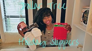 EASY DIY DOLLAR TREE HOLIDAY SLIPPERS | CRAFTING WITH CASS