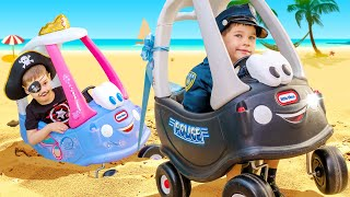 Jailbreak and stucking in the sand on TOY CAR 0+