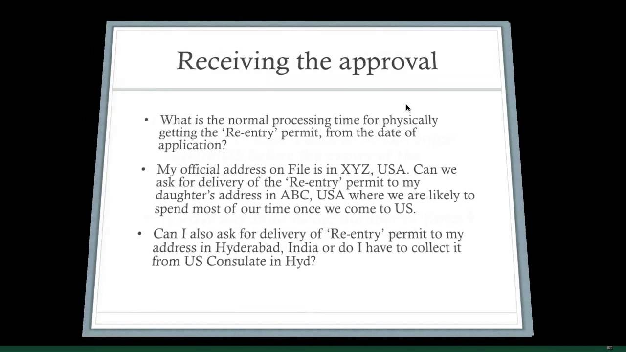 I131 Reentry Permit and N470 FAQ  YouTube