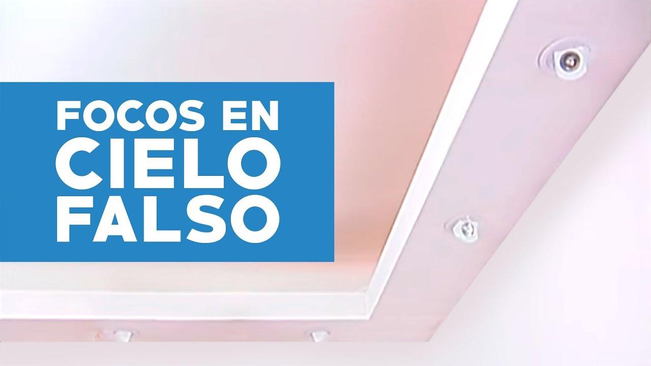 C Mo Hacer Un Cielo Falso Con Focos Embutidos Youtube