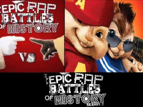 Moses vs Santa Claus. Epic Rap Battles of History Season 2. CHIPMUNKS version