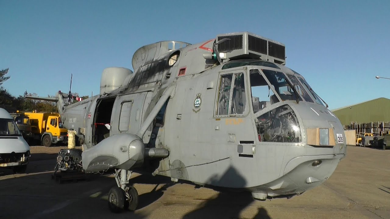 Military Vehicles For Sale >> Sea King HAS Mk6 Helicopters for Sale at Witham SV Auction - YouTube