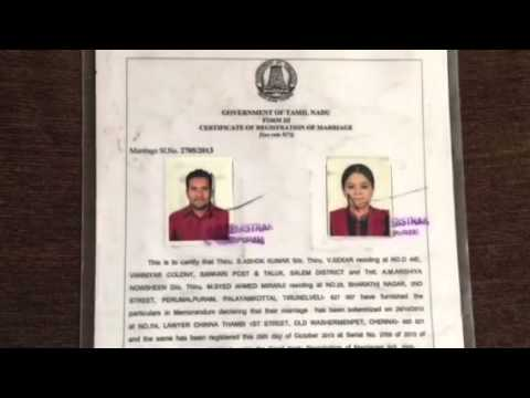 Muslim Marriage Certificate-Nikahchennai.In - Youtube