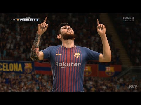 FIFA 18 - FC Barcelona vs Chelsea - UEFA Champions League Gameplay (HD) [1080p60FPS]