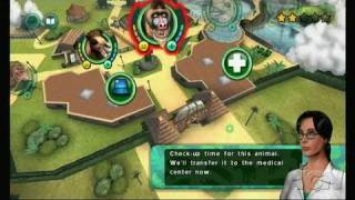 Zoo Hospital Nintendo Wii Gameplay - Baboon Plaque