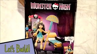 Monster High Cleo de Nile Construction Set From Mega Bloks | Unboxing and Speed Building